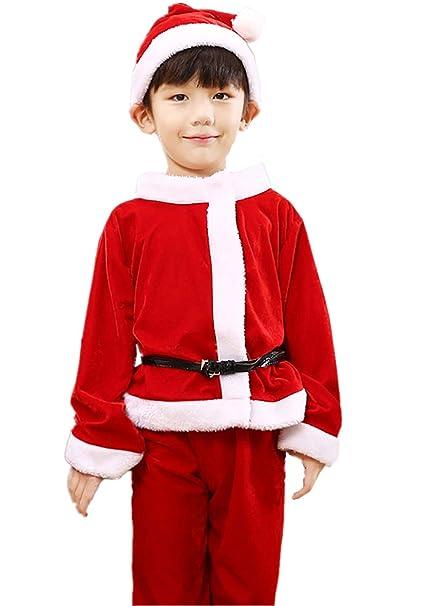 Disfraz de Papá Noel para niño + pantalón de Navidad + Gorro ...