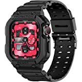 Compatible for Apple Watch Band 44mm 42mm Case, amBand Rugged Armor Men Bands for iWatch Series 5 3 4, Sport Protective…