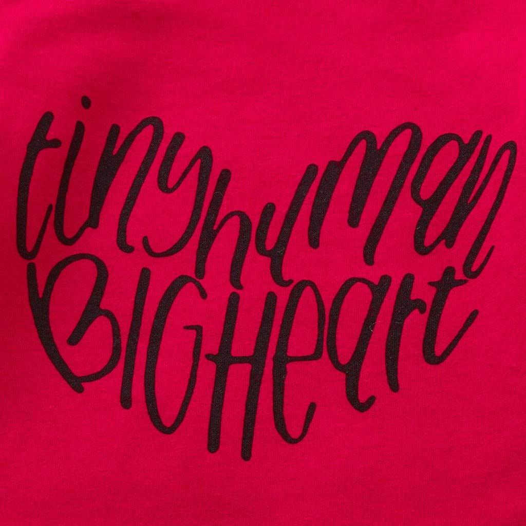 LiLiMeng Newborn Baby Girls Cute Love Letter Print Short Jumpsuit Bodysuit Romper Clothes Red