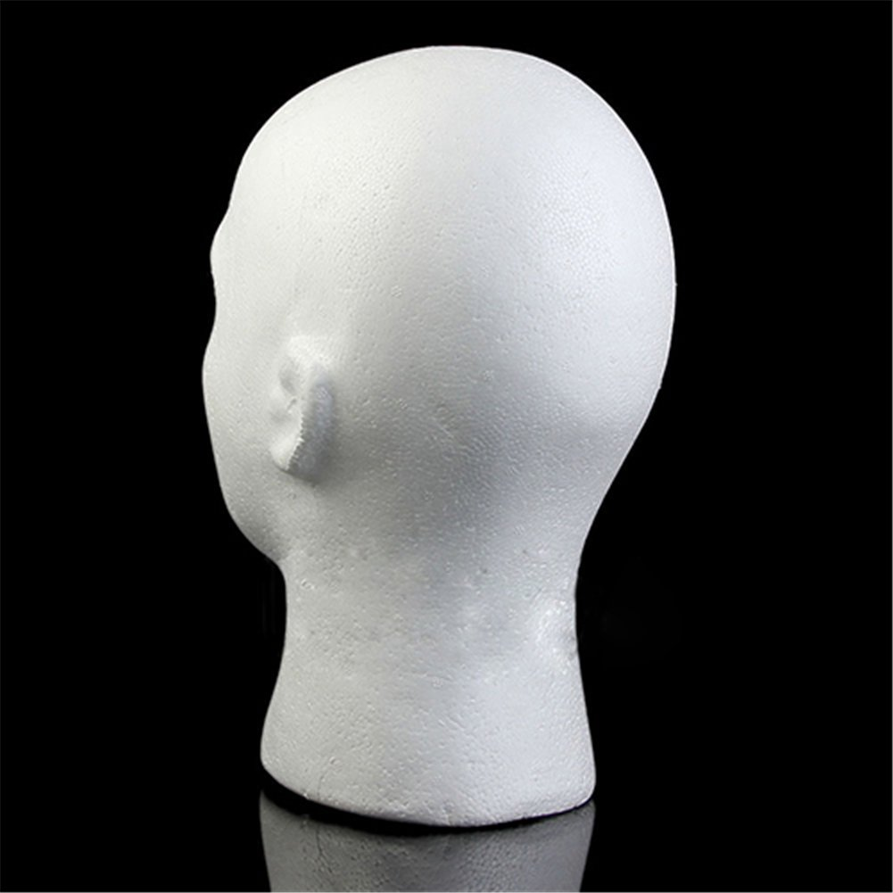 Male Mannequin Styrofoam Foam Manikin Head Model Wig Glasses Hat Display Stand Eyelashes Makeup Massage Practice