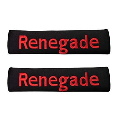 Vemblemm 2pcs Car Collection Truck Jeep SUV Seat Belt Shoulder Pad Cushion Cover Auto Accessories Gifts (Renegade): Automotive