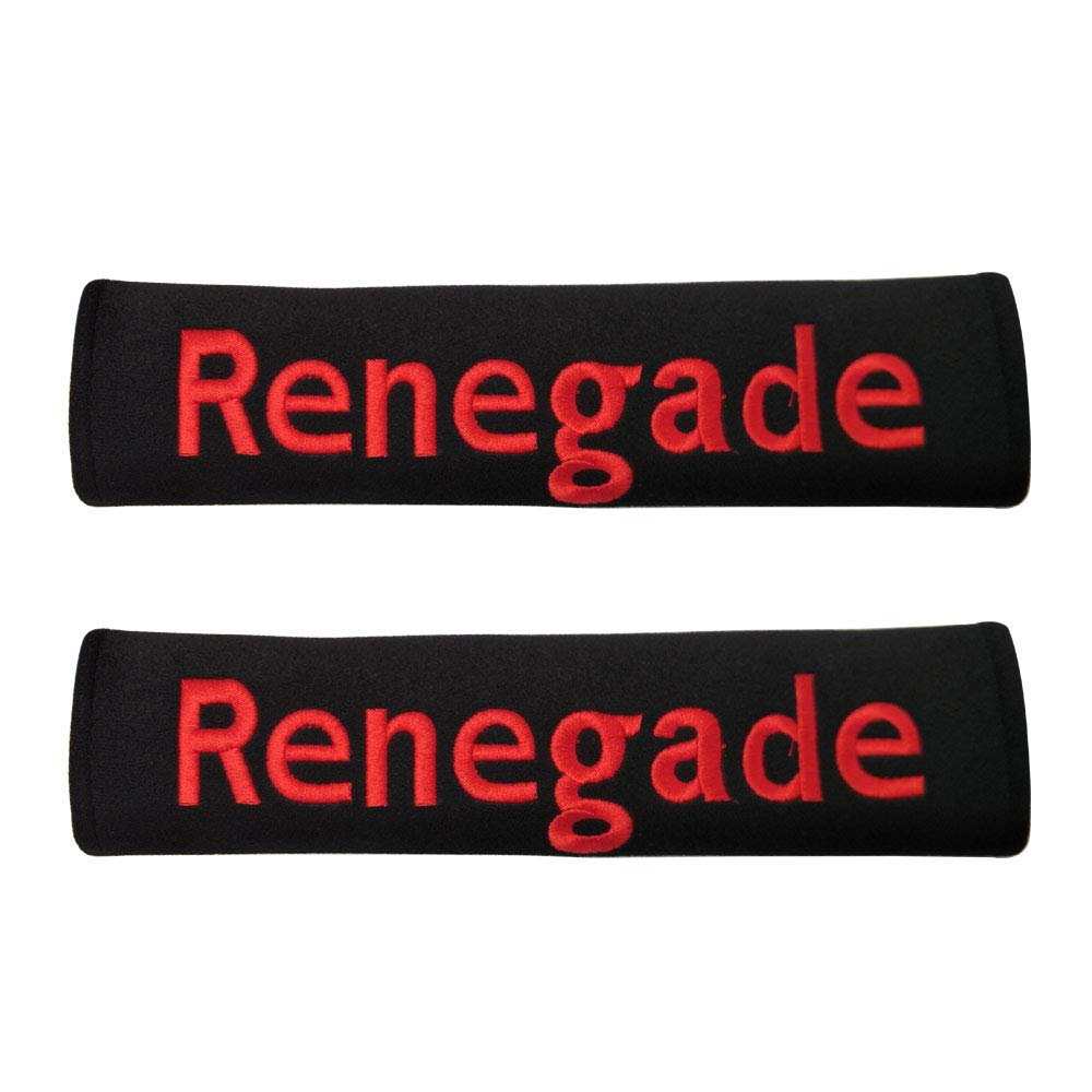 Renegade Vemblemm 2pcs Car Collection Truck Jeep SUV Seat Belt Shoulder Pad Cushion Cover Auto Accessories Gifts