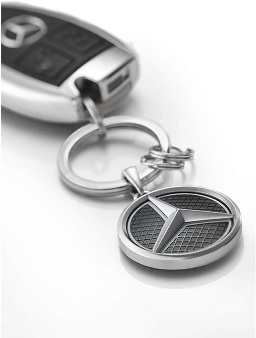 Llavero de Mercedes-Benz Las Vegas acero inoxidable plateado negro y blanco
