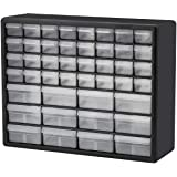Akro-Mils 44 Drawer 10144, Plastic Parts Storage Hardware and Craft Cabinet, (20-Inch W x 6-Inch D x 16-Inch H), Black…