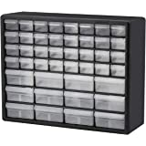 Akro-Mils 44 Drawer 10144, Plastic Parts Storage Hardware and Craft Cabinet, (20-Inch W x 6-Inch D x 16-Inch H), Black (1-Pac