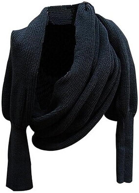 Aidonger Klassische Warm Multifunktions Schal Stola aus Wolle mit /Ärmel