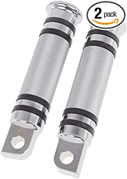 Chrome Goldfire Pair Billet CNC Aluminum Motorcycle Foot Pegs For Harley Style Male Mount Footpegs Footrest
