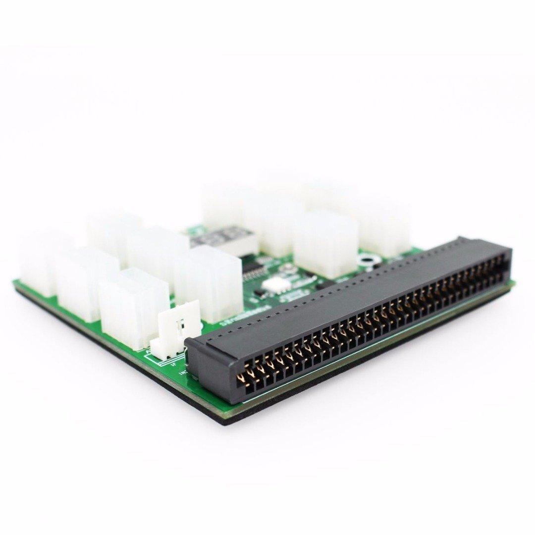 Tekit Ethereum Mining ETH ZEC LTC 1200W/750W Server PSU Power Supply Unit to GPU Breakout Board Adapter + 12pcs 6-Pin PCIe to (6+2Pin) PCIe Graphics Card Power Cables (GPU Breakout Board+12PCS cable) by tekit (Image #7)