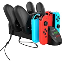 TwiHill o carregador multifuncional é adequado para o controlador Nintendo Switch Joy-Con / Nintendo PRO. Controlador…
