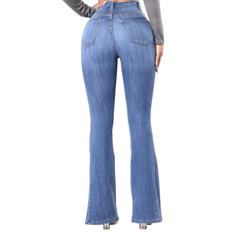 bd7e30d98 2018 Sale Bootcut Jeans Women, Winter Print Flowy High Waist Long Denim  Flare Pants by-NEWONESUN at Amazon Women's Jeans store