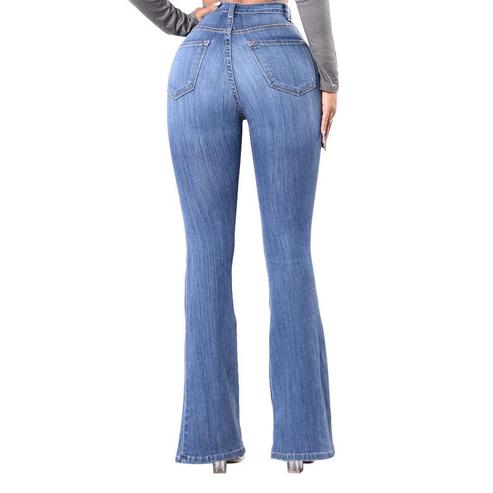 Farjing Pants Clearance Sale Women High Waisted Skinny Denim Jeans Stretch Slim Pants Calf Length Jeans(2XL,Blue by Farjing (Image #5)