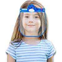 Kids Face Mack, Protective Lightweight Transparent Mack with Elastic Band for Children, Face Bandanas Clear Reusable Kids Full Face Mack Guard Outdoor School (Style A-5pcs)