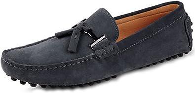 black nubuck tassel loafers