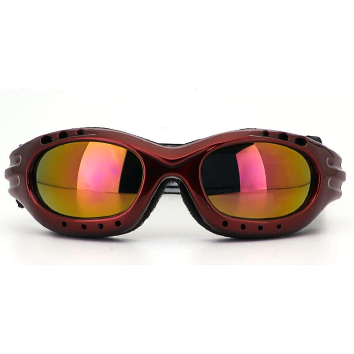 WDAKOWA Winddicht Staubdicht Outdoor Brillen Erwachsene Männer und Frauen Kinder Sport Skibrillen,Pink