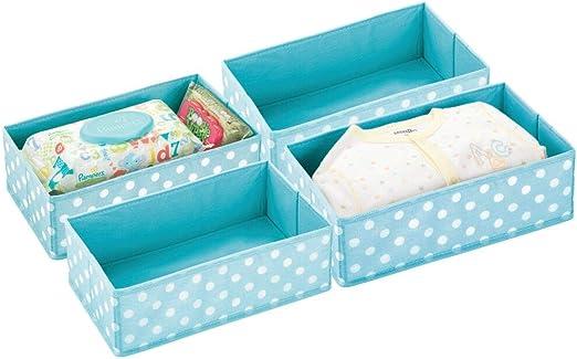 mDesign Juego de 4 Cajas de almacenaje para habitación Infantil o ...