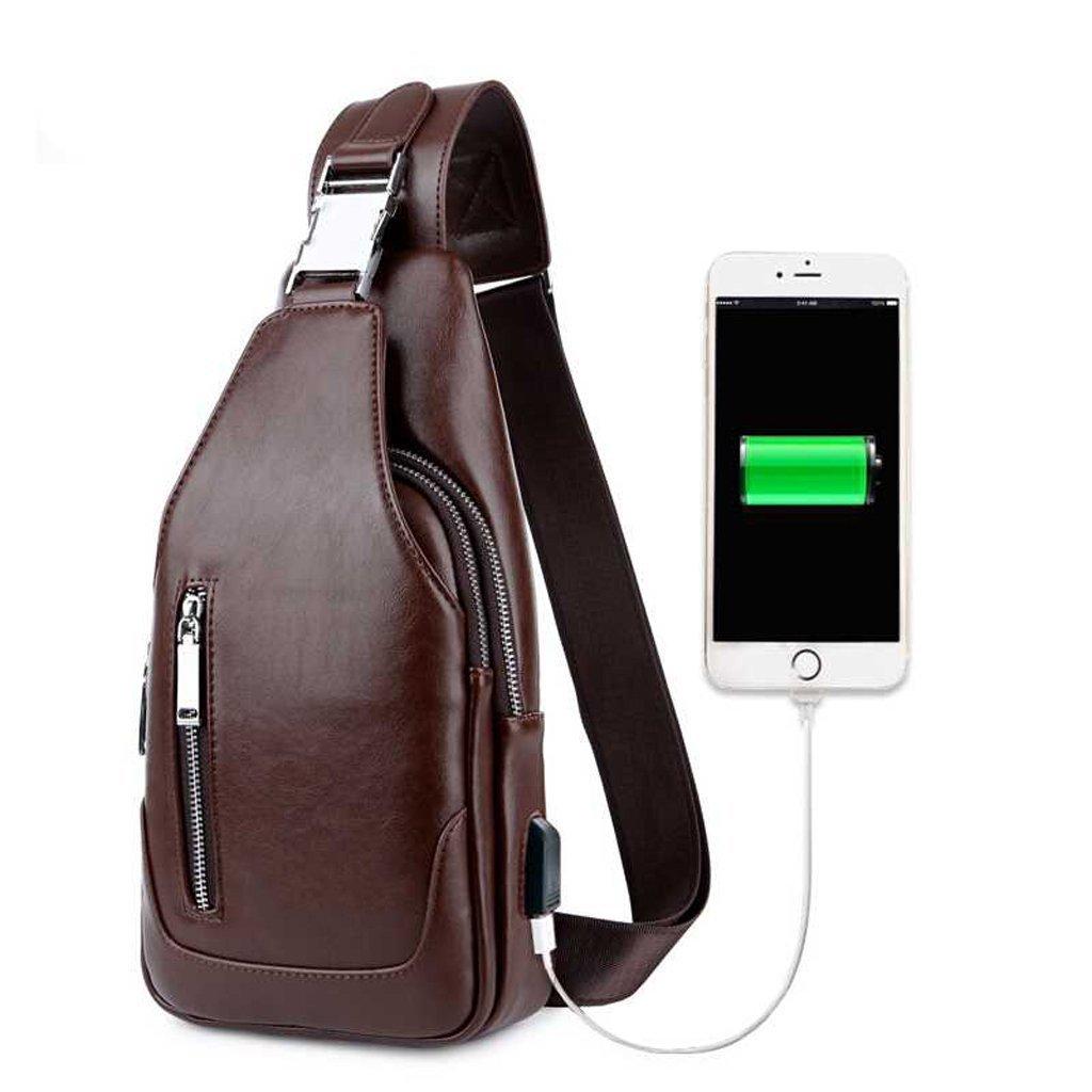 811f7f2dadfa Amazon.com  XY CF Men s Outdoor Chest Bag Shoulder Diagonal Bag - Shoulder  Bag Travel Backpack with USB Charging Port (Color   A)  Sports   Outdoors