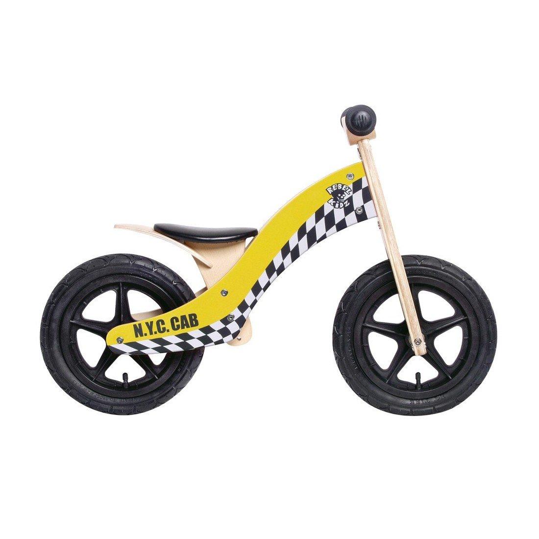 Bici aprendizaje Rebel Kidz Wood Air madera 12 Taxi amarillo