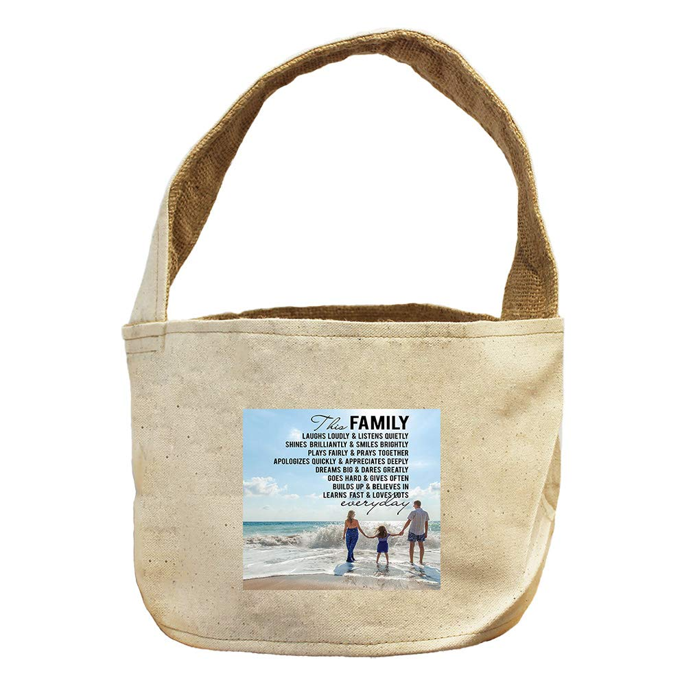 Style in Print This Family Fast and Loves Lots Everyday Canvas and Burlap Storage Basket