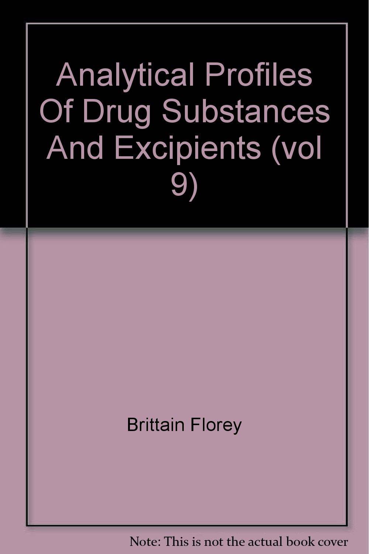 ANALYTICAL PROFILES OF DRUG SUBSTANCES, VOLUME 9 pdf