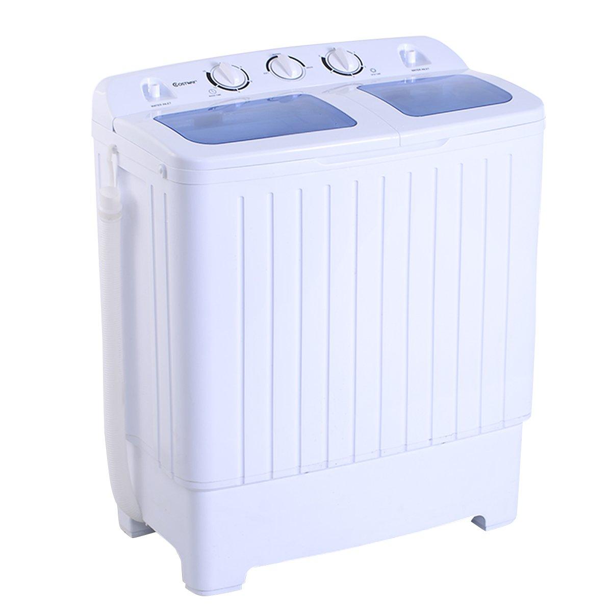 MINI machine à laver Lave-linge + Essoreuse 2 Buckets 4, 5 kg 300 W Blitzzauber24