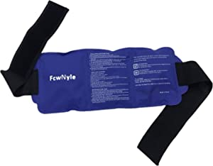 Reusable Ice Pack for Injuries Gel Wrap Hot Cold Therapy Relief with Straps Back Shoulders Waist Refrigerator Cooler Bag