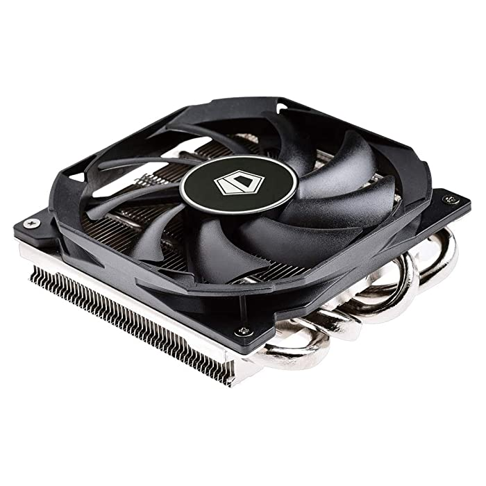ID-COOLING IS-30 30mm Height Mini-ITX Low Profile Cooler with 92x92x12mm Slim Big Airflow Fan, Black Color Theme, AM4 and LGA115X, TDP 95W
