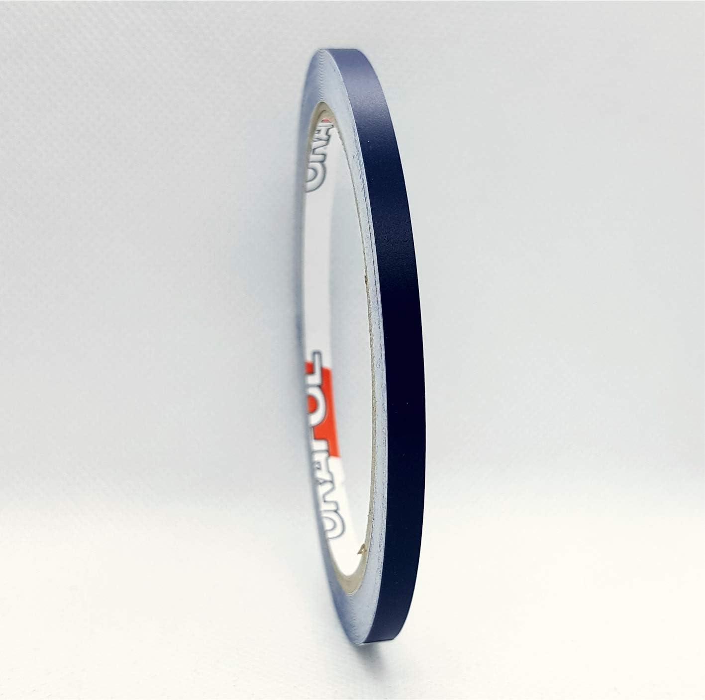 Siviwonder Matt stahlblau Marine Zierstreifen Aufkleber Breite 50mm L/änge 10m f/ür Auto Boot Klebeband blau 5cm