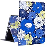 iPad Case iPad 9.7 2018/2017 Case with Smart Auto Wake Sleep, Egoing iPad Air 1 Case Cover iPad Air 2 Soft TPU Protective Viewing Typing Folio Stands for Apple iPad (BBY Flower)
