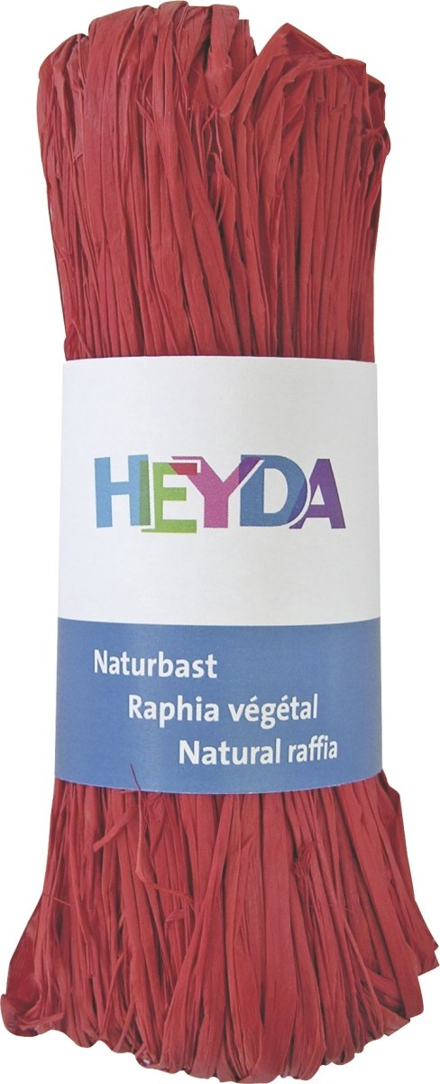 HEYDA Raphia 204887791/raphia naturel 0/M x 0/mm, Rouge