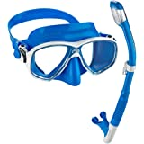 Cressi Marea Mask Tao Dry Snorkel Set | Adult Small Inner Volume Mask for Scuba Snorkeling with Supernova Dry Snorkel, Perfect for Snorkeling Scuba Diving