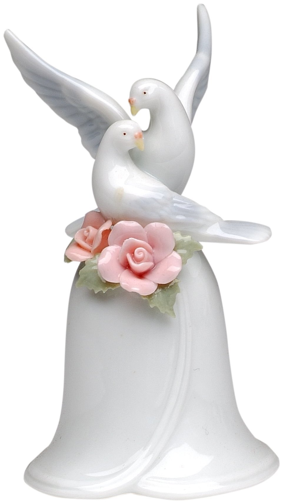 CG 96312 3.63'' Bell with Pink Roses and Mini Doves