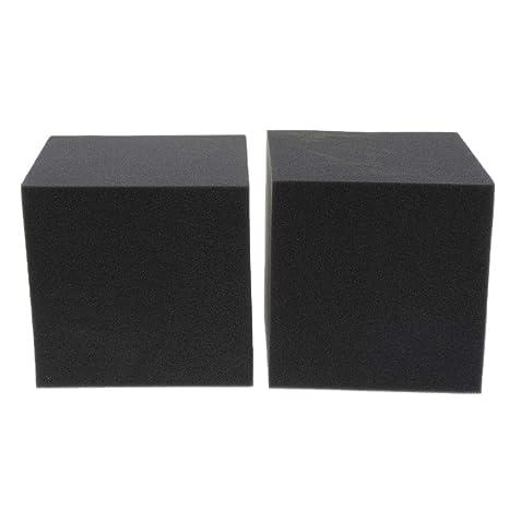 FLAMEER Paneles de Espuma Acústicas Profesionales Alta Densidad Estudio para Principiantes Producción Instrumentos Musicales - Negro