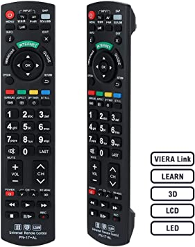 Alkia N2QAYB000504 Remote Control Compatible Replacement for Panasonic TV, Sub N2QAYB000673: Amazon.es: Electrónica