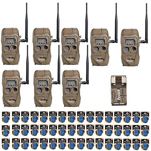 - Cuddeback CuddeLink J Series Long Range IR 20 MP Trail Camera (8 Pack) with 2 Full Sets of Batteries   Built-in Wireless Network Bundle