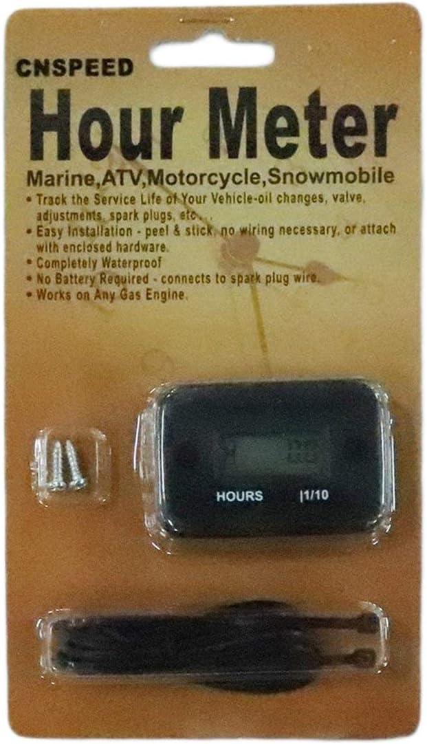 nero Contaore digitale LCD impermeabile per bici da moto nautica ATV per moto a gas a 2//4 tempi