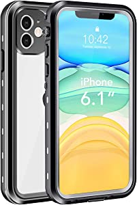"iPhone 11 Waterproof Case, Shockproof Dropproof Dirt Rain Snow Proof iPhone 11 Case with Screen Protector, Full Body Protection Heavy Duty Underwater Cover for iPhone 11/6.1""【2019】"
