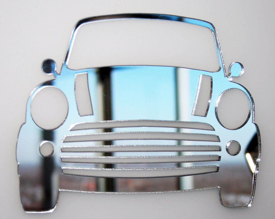Car Mirror - Available in various sizes, including sets for crafting kits - 35cm x 26.5cm