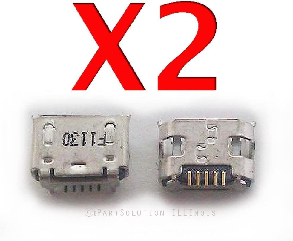 ePartSolution_2X Micro USB Charger Charging Port Dock Connector USB Port for HP 10 G2 Tablet 2301 Replacement Part USA Seller