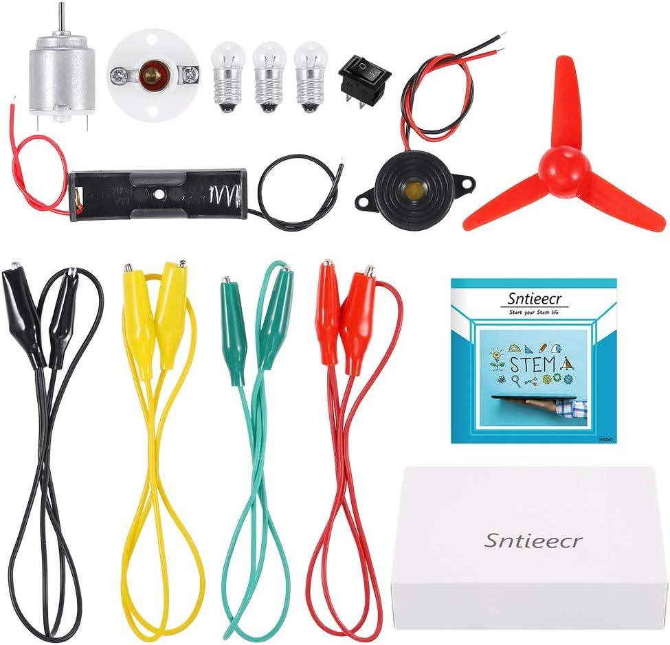 Sntieecr Electric Circuit Motor Kit Educational Montessori Learning Kits for Ki