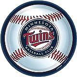 "Amscan Minnesota Twins Round Dinner Plates, 9"""
