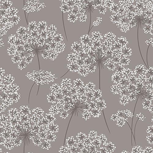 NuWallpaper NU1693 Peel & Stick Angelica Grey Peel and Stick Wallpaper