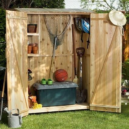 All Things Cedar GH50U Storage Hutch And Storage Shed