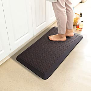 "Anti Fatigue Comfort Floor Mat, Premium 3/4"" Kitchen Mat, 32x20 Inch, Phthalate Free, Non Slip Comfort Waterproof Support for Standup Desks, Home, Garage and Workshop"