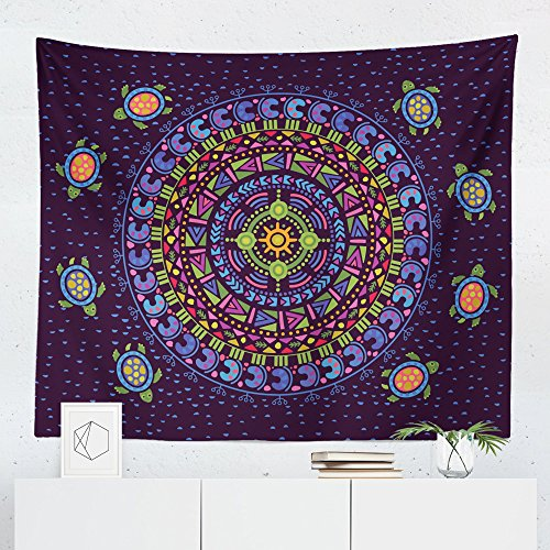 Black and White Mandala Tapestry Wall Hanging Floral Bohemian Boho Tapestries Dorm Room Bedroom Decor Art Small to Giant Sizes Printed in the USA