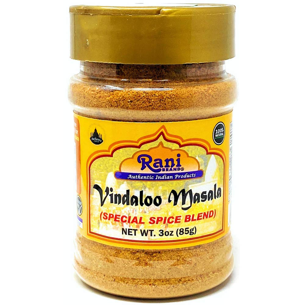 Rani Vindaloo Curry Masala Natural Indian Spice Blend 3oz (85g) ~ Salt Free   Vegan   Gluten Friendly  NON-GMO   No colors