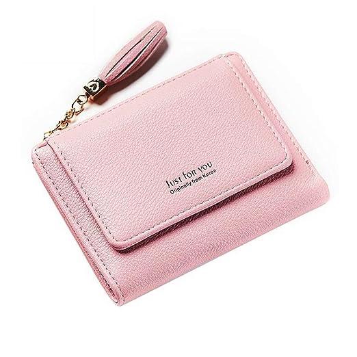DAOLIANGZAHUO Mini Billetera Plegable for Mujer Billetera de ...