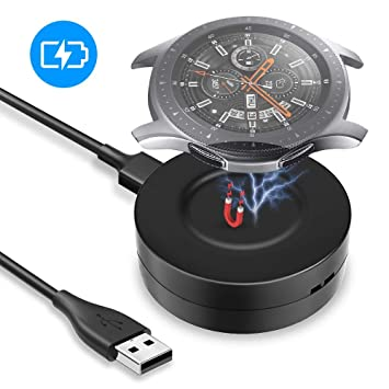 KIMILAR Cable Compatible con Samsung Galaxy Watch 46mm / 42mm / Gear S3 Cargador, Base de Carga USB Repuesto Cargador para Galaxy Watch 42mm/46mm/Gear ...