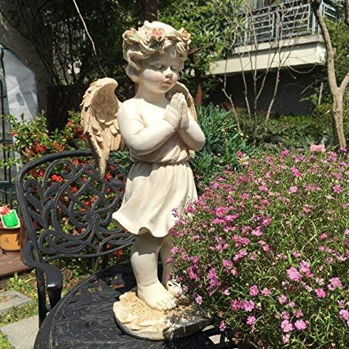 GAC Esculturas de jardín – Ángel de oración Retro Americano, decoración de Boda para Dar Regalos de jardín, decoración de Resina, Escultura para Sala de Estar, Retro: Amazon.es: Jardín