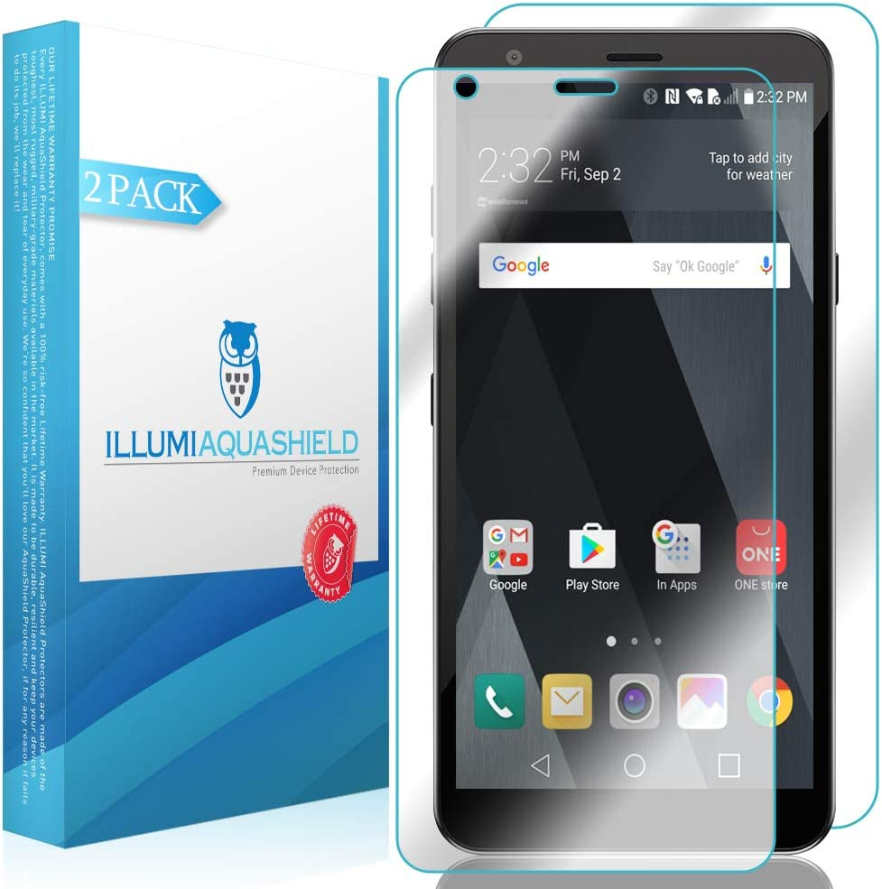 ILLUMI AquaShield Front + Back Protector Compatible with LG Escape Plus (2-Pack) HD Clear Screen Protector No-Bubble TPU Film