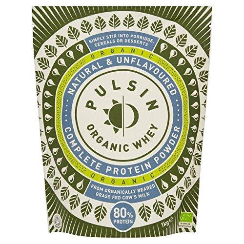Pulsin' Organic Whey Protein Powder - 1kg (2.2lbs) by Pulsin'